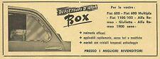 W6222 Deflettori d'aria BOX per FIAT 600 - Pubblicità 1959 - Advertising