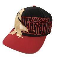 NASCAR Winston Cup Hat Cap Big Logo Spellout Gold Eagle Sewn Vintage Snapback