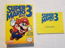 Super Mario Bros. 3 NES Authentic Box and Manual only NO GAME