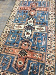 Antique Style Old Used Turkish Handmade Wool Rug Carpet Size:6.7 By 5.11 Ft