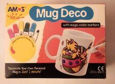 New Amos Mug Deco (2 Mugs) w/ Color Markers Decorate Kids Craft Create Memories