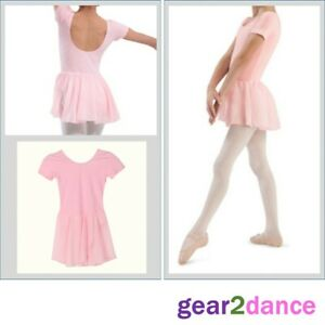 Ballet Leotard With Skirt Dance Ballet Girls UK Stock Pink Black