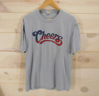Vintage Cheers TV Show T-Shirt Men's Size XL Gray Single Stitch Made in USA