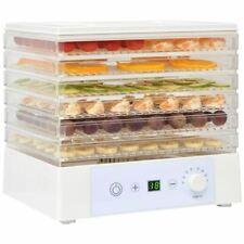 Vidaxl Déshydrateur Alimentaire avec 6 plateaux pour Cuisine 250 W Blanc