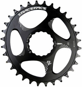 RaceFace Narrow Wide Oval Chainring: Direct Mount CINCH, 32t, Black