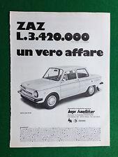 PV144 Pubblicità Advertising Clipping 31x23 cm - NUOVA ZAZ 968 M AUTO CAR BEPI K