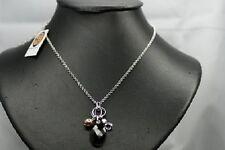 FOSSIL Damen 925 Silber Rhodium Kette JF15309 Halskette Besatz Anhänger edel NEU