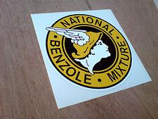 National Benzoli miscela Classic Vintage petrolio Adesivo Decalcomania 1 OFF 100mm