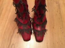 New DIESEL Ankle Boots UK Size 3 (35 EU ) Red Wedge Shoes unique boots
