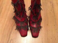 Nuevas Botas al Tobillo Diesel tamaño de Reino Unido 3 (35 EU) Zapatos Botas única de cuña roja