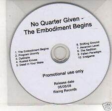 (K780) No Quarter Given, The Embodiment Begins - DJ CD