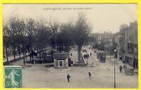 cpa 82 - CAUSSADE (Tarn et Garonne) Le JARDIN PUBLIC Animée Vu peu courante