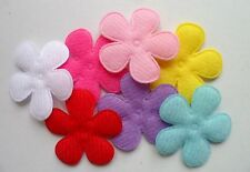 70pcs Padded Felt Velvet Daisy Flower Appliques Mix 33mm 7 Color