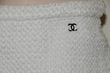 $1920! 11 NEW CHANEL WHITE Fantasy Tweed  SKIRT w Shimmer JACKET BLAZER  36