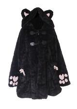 TJ-01 Ourson Peluche Manteau D'Hiver Katzen-Pfote Noir Oreilles Veste à Capuche