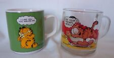 VINTAGE 1978 GARFIELD Collector Mugs - Set of 2 by Jim Davis