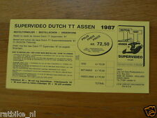 1987 FLYER SUPERVIDEO DUTCH TT ASSEN 1987  LEE VAN DAM