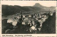 Ansichtskarte Bad Schandau Blick auf die Stadt mit Lilienstein 1934