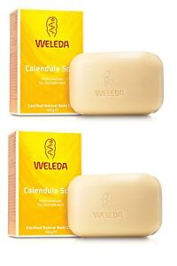 WELEDA CALENDULA BABY SOAP MILD CLEANSER FOR DELICATE SKIN 2x100g