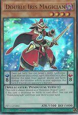 3X YU-GI-OH CARD: DOUBLE IRIS MAGICIAN - ULTRA RARE - PEVO-EN003 - 1ST EDITION