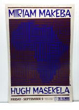 MIRIAM MAKEBA @ FILLMORE SF/1988 NEVER ROLLED/CONCERT POSTER/HUGH MASEKELA