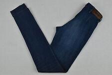 Acne Jeans Da Donna Pelle Grande Skinny Fit Denim Pantaloni Lunghi W26 L34