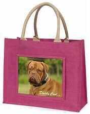 Dogue De Bordeaux 'Daddy Cool' Large Pink Shopping Bag Christmas Pr, AD-DB2DCBLP