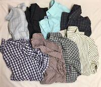 Lot Of 8 Mens Medium Assorted Button Up Long Sleeve Shirts