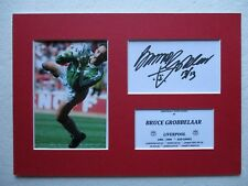 LIVERPOOL BRUCE GROBBELAAR GENUINE SIGNED A4 MOUNTED CARD & PHOTO DISPLAY - COA