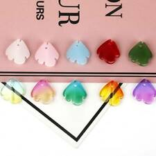 10pcs 15mm Curving Fish Shape Crystal Glass Loose Pendant Beads lot Jewelry DIY