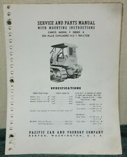Carco Model F Series 6 on Ac Hd7 Tractor Service & Parts Manual