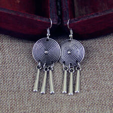 Circle with Tassels Fringe E1310O Earring Ethnoschmuck Asian Style