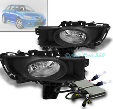 07 08 09 MAZDA 3 MAZDA3 SEDAN 4DR BUMPER FOG LIGHT LAMP CHROME W/10K HID+HARNESS