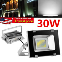 30W LED Flood Light Outdoor Garden Lamp Spotlight Cool White Security Yard Lamp