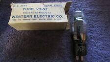 (1) NOS NIB 110% Hytron Western Electric VT-52 BP Special 45 Triode  Audio Tube
