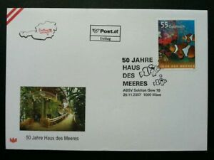 [SJ] Austria 50 Years Of The House Of The Sea 2007 Fish Underwater Marine (FDC)