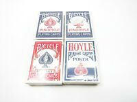 Lot of 4 New Bicycle Hoyle Playing Card Decks Rider Back Pinochle Poker USA Made