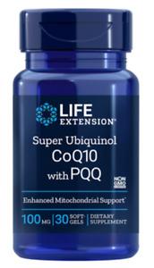 Life Extension Super Ubiquinol CoQ10 with PQQ 100 mg, 30 softgels | 01733