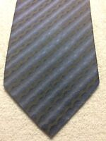 PRONTO UOMO MENS TIE BLUE AND GRAY ABSTRACT STRIPED  4 X 59 NWOT