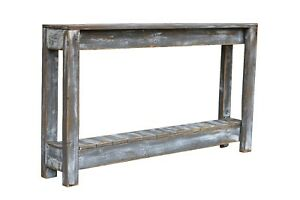 WEATHERED GRAY 46'' CONSOLE TABLE