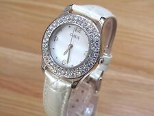 NEW LADIES OASIS WATCH MOTHER OF PEARL EFFECT DIAL DIAMANTE  STONES B427