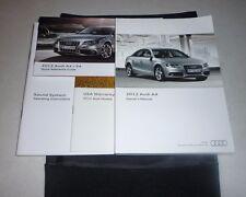 2012 AUDI A4 SEDAN OWNERS MANUAL SET GUIDE 12 w/case 2.0T quattro