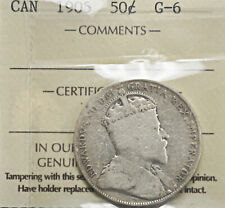 1905 Canada 50 cents ICCS G-6