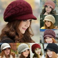 Womens Lady Girl Winter Warm Knitted Crochet Slouch Baggy Beanie Hat Beret Cap