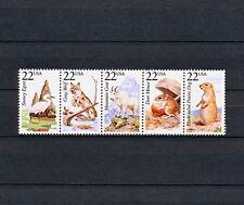 (Sbaa 270) Us 1987 Mnh North American Wildlife Wolf Goat Mouse Egret Dog strip