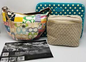 3 Coach Purse Kate Spade Make Up Bag Laptop Case