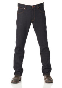 Wrangler Jeans Homme Pantalon Stretch Greensboro Régulier Coupe Bleu Foncé Rinse