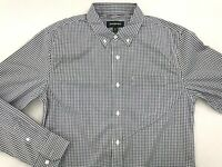 BETABRAND LONG SLEEVE BUTTON DOWN SHIRT MEDIUM MADE IN SAN FRANCISCO BLACK