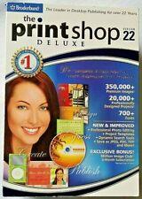 Broderbund Print Shop Deluxe Version 22, Windows, NEW Factory Sealed Box