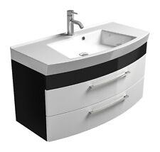 Waschplatz Rima 5870 99 in weiß-anthrazit hochglanz mit Mineralgussbecken weiß